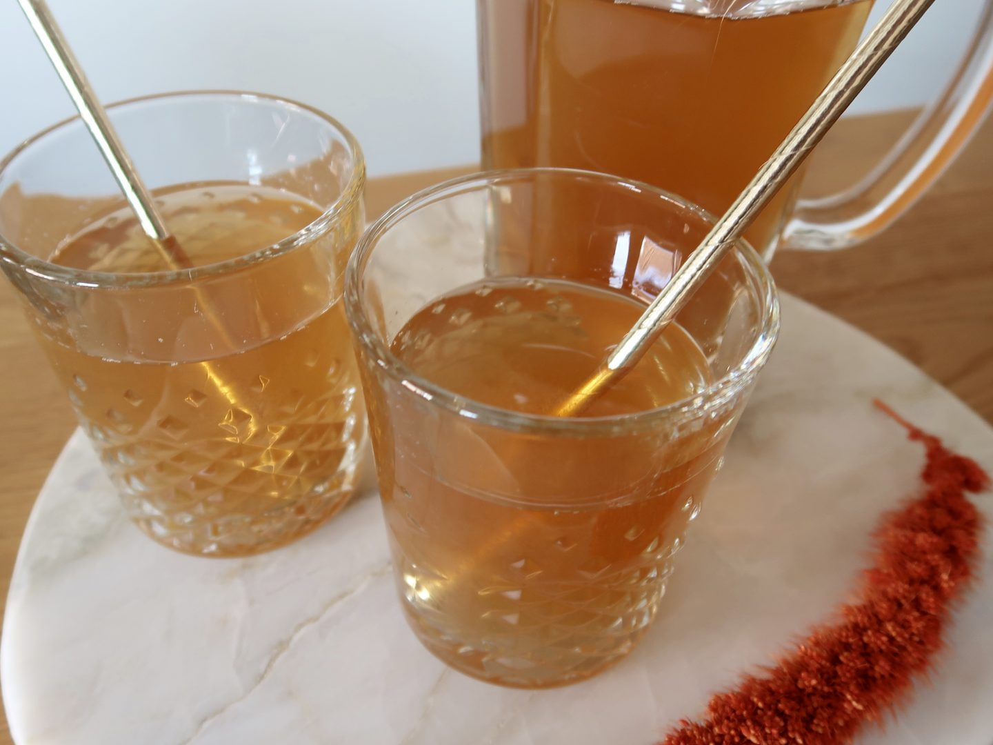My refreshing homemade peach iced tea recipe - ByMeryl